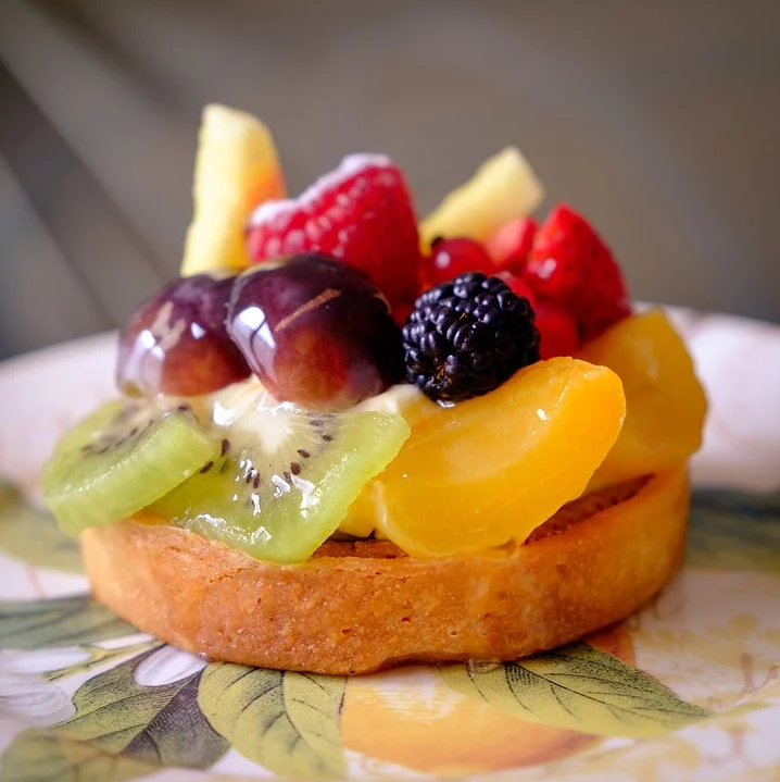 Tartelette aux fruits crus
